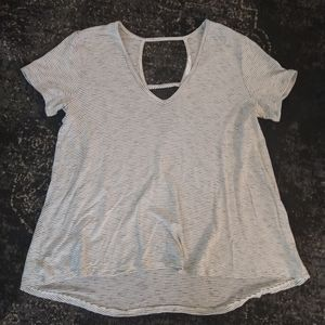 Lush Cotton Loose Fit High Low T-Shirt Size XS